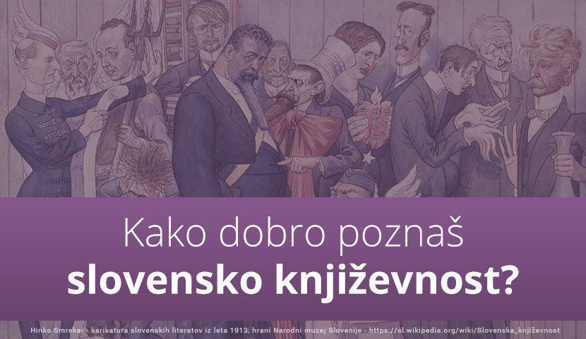 KVIZ: Kako dobro poznaš slovensko književnost?